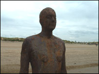 Antony Gormley-Another place - Crosby Bay, UK