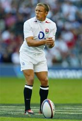 Johnny Wilkinson about to kick the ball