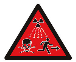 New Radiation Sign, red and scary