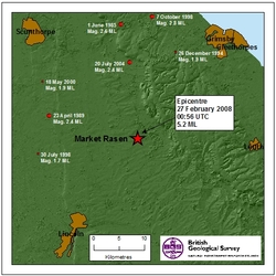 Previous earthquakes near Market Rasen