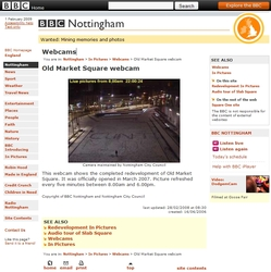BBC Nottingham Marketplace webcam