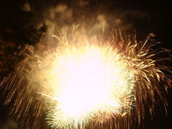 Golden Shower Firework 2